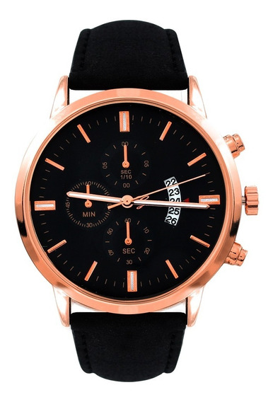 Reloj Nuevo Geneva Fechador Correa Vinipiel Hombre