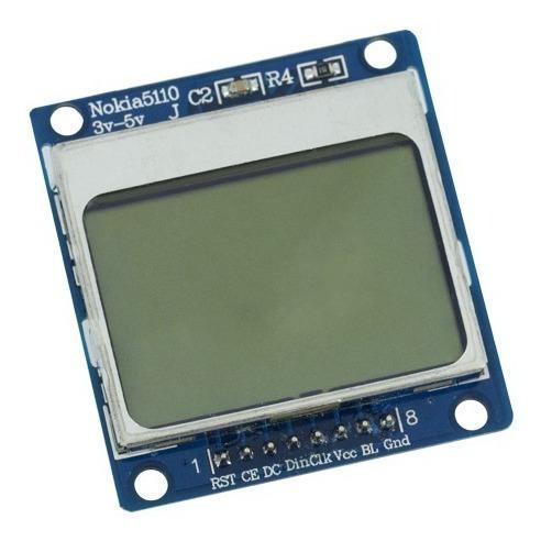 5 Peças Disp. Lcd Gráfico Nokia 5110 Backlight Branco/azul