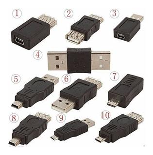10 Adaptadores Conectores Usb Gadgets Red Ethernet Micro