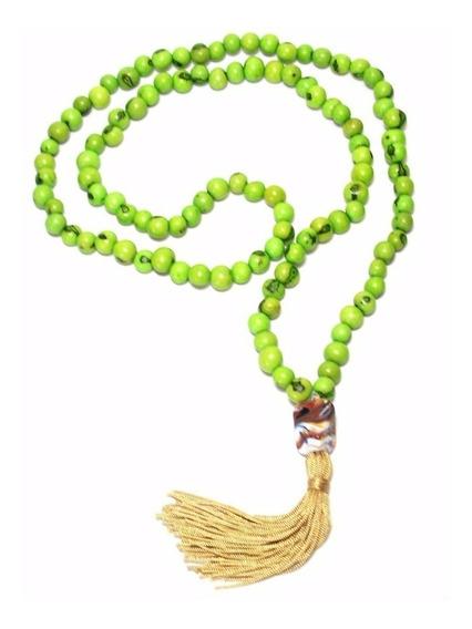 Japamala 108 Contas De Sementes De Açaí Verde