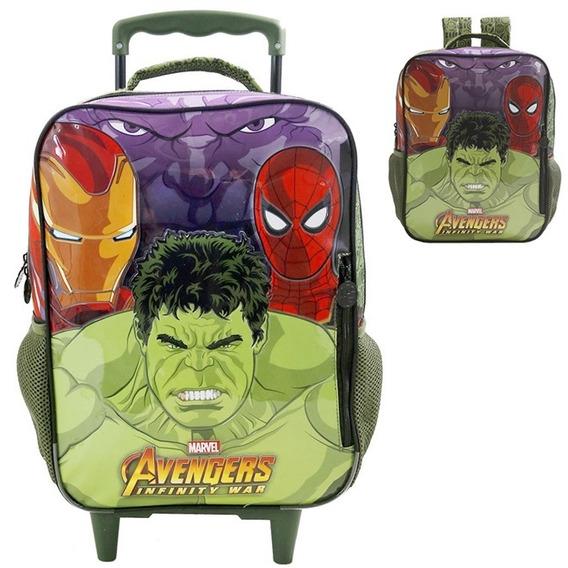 Kit Mochila Rodinha E Lancheira Avengers Infinity War Xeryus