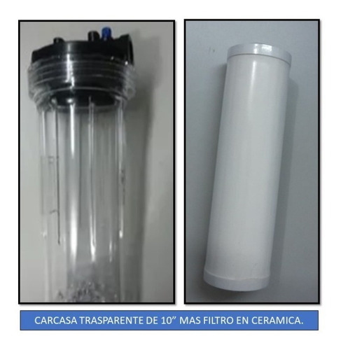 Carcasa 10  Trasparente+filtro Cerámica Ozono+envio Gratis