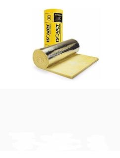 Lana De Vidrio Isover Con Aluminio Rolac Plata De 50mm