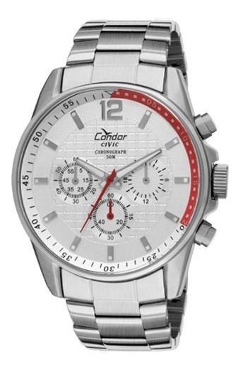 Relógio Condor Masculino Prata Ky20456/3b Original
