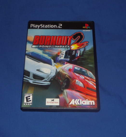Burnout 2 Point Of Impact Original Ps2 Ótimo Estado