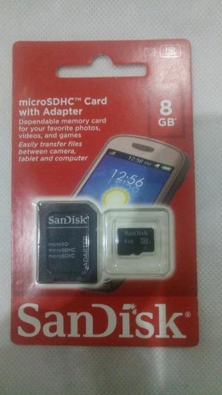 Cartão De Memória Saindisk 8gb Micro Sd
