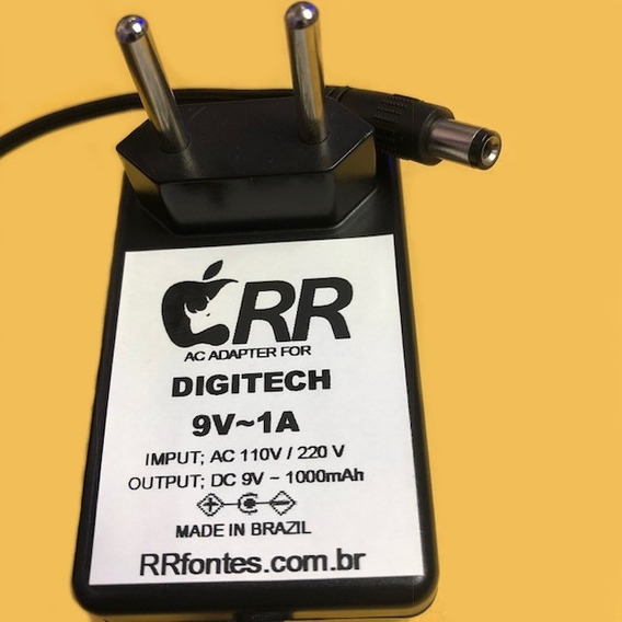 Fonte Carregador 9v Pedal Digitech Bass Squeeze Compressor