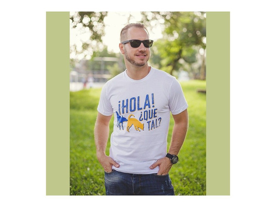 Camiseta Branca Unissex Hola Que Tal Dog Lover Algodão
