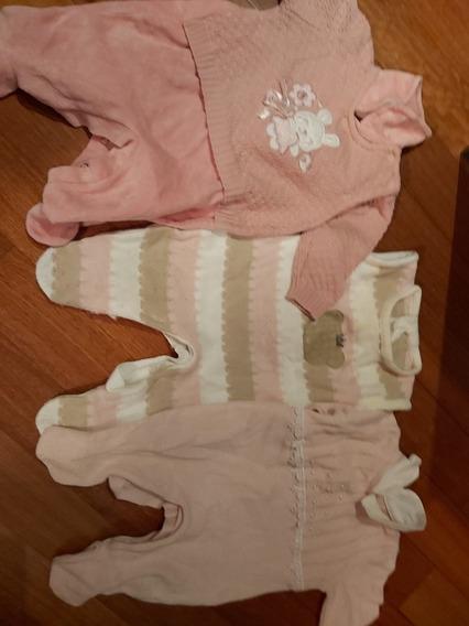 Roupa De Linho Para Bebê- Conj Com 3 Peças