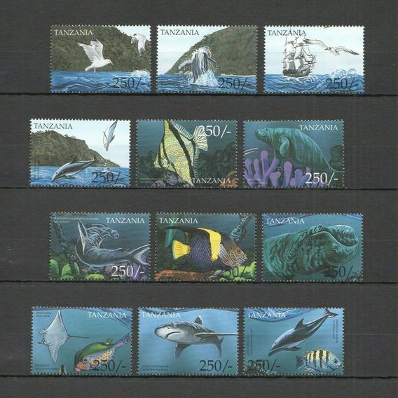Tanzania Vida Marina, Peces Serie Completa 12v Mint Alto Vc
