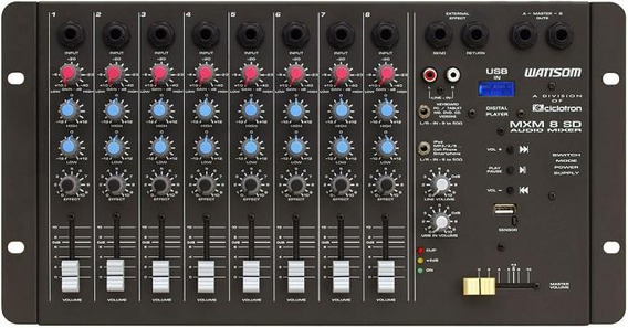Promoção! Mesa De Som Ciclotron Mxm 8 Sd Com Usb E Controle.