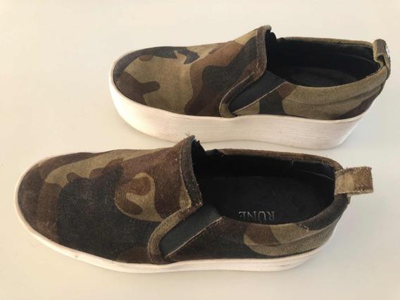Zapatillas Panchas Prune /plataforma (camufladas)número 35