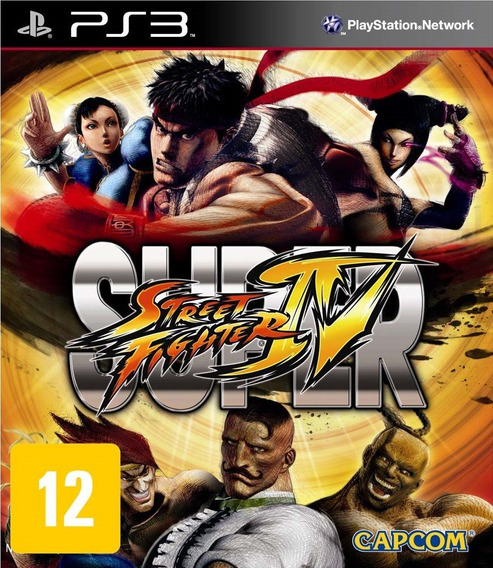 Jogo Super Street Fighter Iv Playstation 3 Ps3 Mídia Física