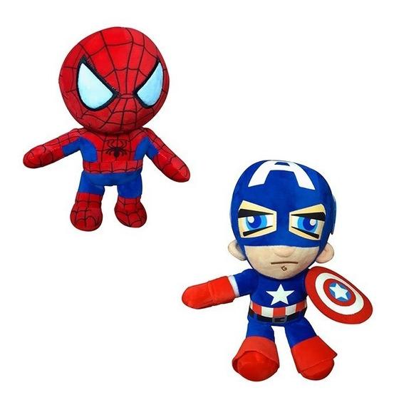 Peluche De Capitan America Y Spiderman Avengers Batman