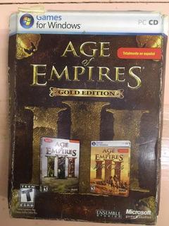 Juego Age Of Empires 3 + Expansión War Chiefs Dvd Original
