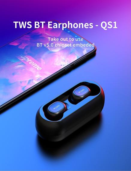 Fone Ouvido Qcy Qs1 T1c Mini Dual V5.0 3d Som Estéreo