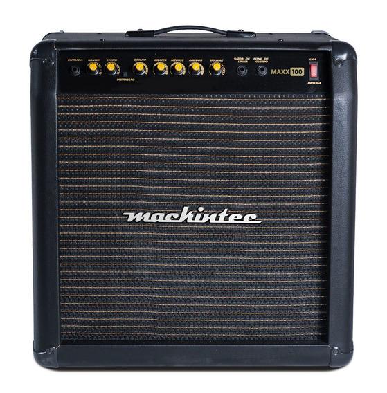Cubo Ativo Para Guitarra Mackintec 100 W Rms Maxx 100 8 Homs