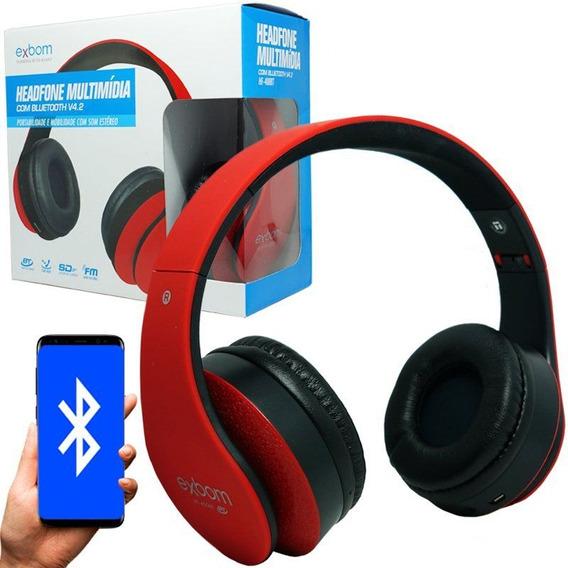 Fone Ouvido Headphone Sem Fio Fm Micro Sd P2 Bluetooth 400bt