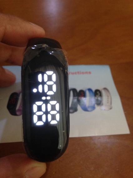 Pulseira Relógio Digital Led