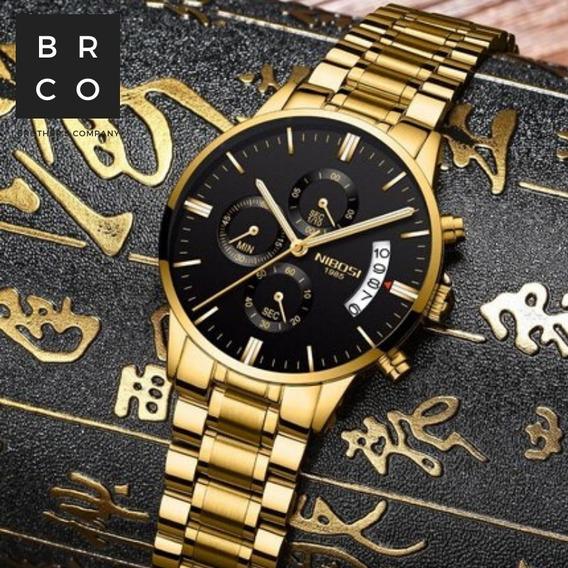 Relógio Masculino Nibosi 2309 Funcional A Prova D