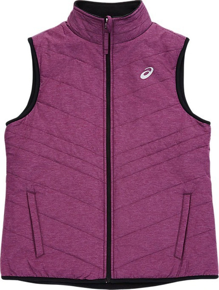 Chaleco Asics Mujer Morado Reversible Rev Vest Wt2717rt02