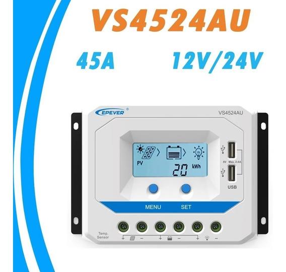 Controlador De Carga Solar Pwm 45a 12v-24v Epever Vs4524au