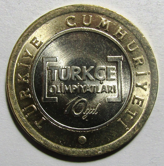 Turquia Moneda Bimetalica 1 Lira 2012 Unc 10º Aniv Olimpiada