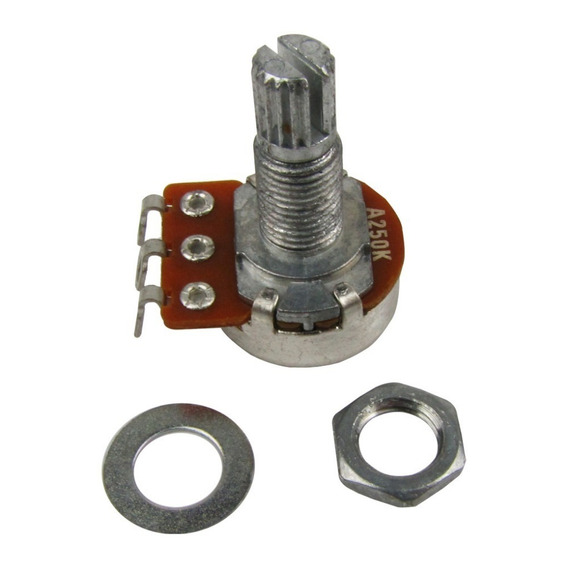 Potenciometro Base 16mm Eixo 18mm Logarítmico A250k (4 Und)