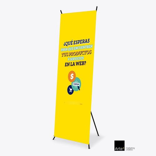 Imagen 1 de 1 de X Banner Display Publicitario Para Lona De 60 X 160 Cm