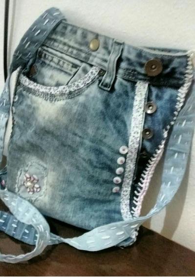 Bolsas Artesanais Trabalhadas Com Jeans, Modelos Exclusivos