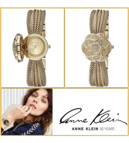 Reloj Anne Klein Con Piedras Swarovski Y Espejo Original