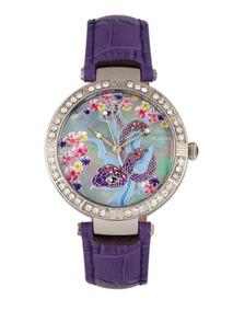 5b684dea285f Reloj Pulsera Bertha Mia Dial De Nácar malla D cuero Violeta