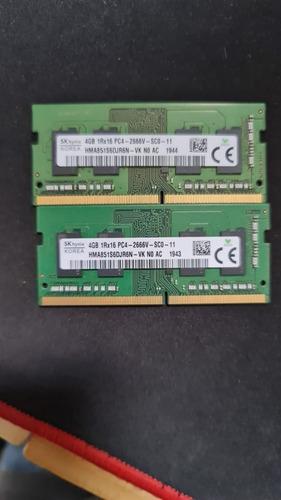 8gb Memória Ram Ddr4 - 2 X 4gb P/ Notebook - Sk Hynix Korea