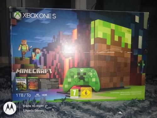 Xbox One S Edição Limitada Do Minecraft