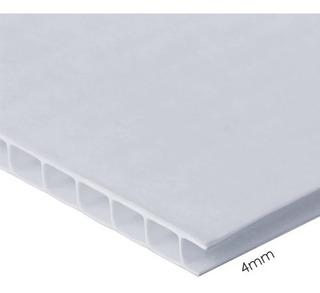Coroplast 4mm Blanco Hoja Completa 244x122cm Diversos Usos Fotografía Publicitario Señalización Polipropileno Corrugado