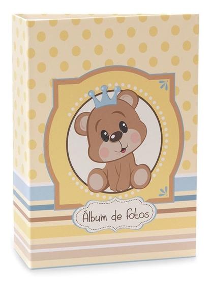 Álbum De Bebê Rebites Solda Ursinho Menino 120 Fotos 10x15