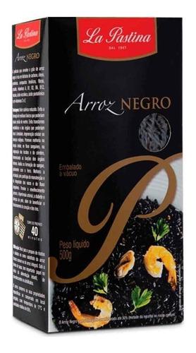 Imagem 1 de 1 de Arroz Negro Italiano La Pastina 500g
