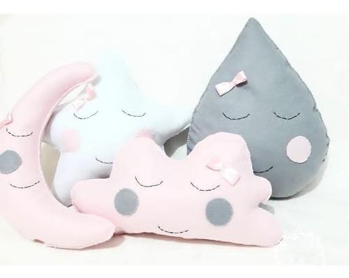 Kit Almofada Infantil  Nuvem Chuva De Amor Benção  Feltro