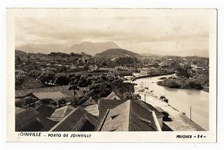Cartao Postal Porto De Joinville - Foto Prugner - Anos 40