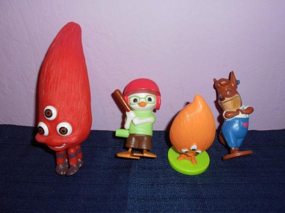 Lote De 4 Figuras De Chicken Little De Mcdonalds Toys