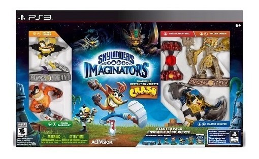 Starter Pack Skylanders Imaginators Crash Bandigoot Para Ps3