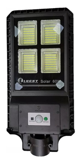 Kit 3 Refletor Luminária Pública Poste Solar 60w C Sensor