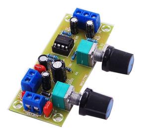 Placa Pre Amplificador De Sub Woofer Com Ajuste Frequencia