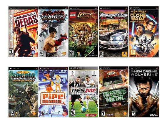 Combo Novo 10 Jogos Para Playstation Portátil Sony Psp