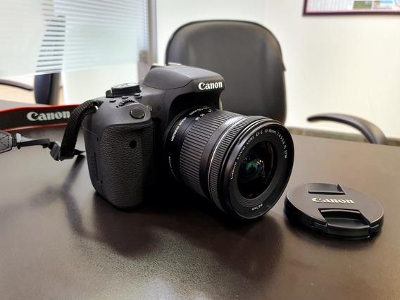 Canon T6i Lente 10-18 Pouco Uso Fotos De Imoveis Como Nova