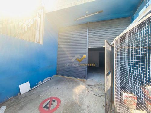 Salão Para Alugar, 180 M² Por R$ 2.500,00/mês - Vila Vivaldi - São Bernardo Do Campo/sp - Sl0092