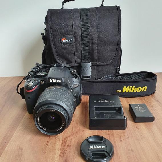 Câmera Nikon D5100 + Lente Nikon 18-55mm + Case - Semi Nova