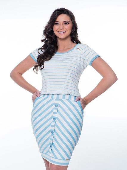 Vestido Modinha Hapuk Girl - Azul Céu Moda Evangélica