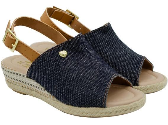 Sandalia Anabela Feminina Infantil Tratorada Sapato Moda