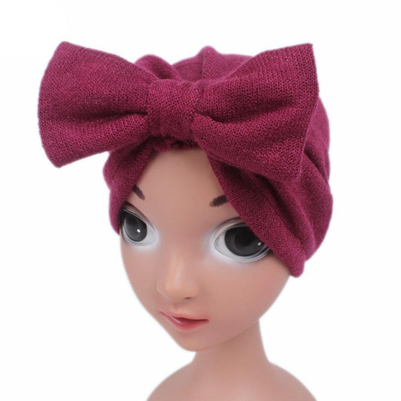 Turbante Para Niñas Y Bebés Moño Tocado Gorro Sombrero